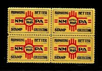 NEW MEXICO PHILATELIC ASSOCIATION - BLOCK OF FOUR - MINT - OG - NEVER HINGED