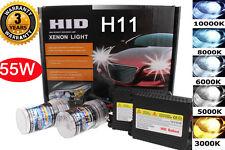 Xenon 55W H11 8K 8000K Ice Blue HID Fog Light Lamp Bulb Slim Conversion Kit #R
