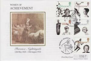 **  MERCURY SILK COVER FAMOUS WOMEN FIRST DAY COVER AUGUST 6TH 1996 **