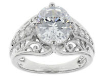 Size 9- Bella Luce 7.09ctw Rhodium over Sterling Silver Ring