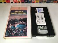 Mexico's Beach Resorts 80's Travel VHS 1989 Cancun Cozumel Acapulco Rand McNally