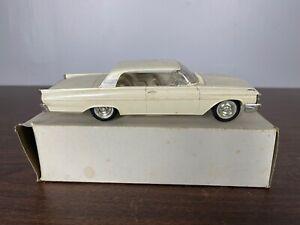 "1961 Mercury Monterey Promo Car White 8 5/8"" Box As Is No front driver wheel"