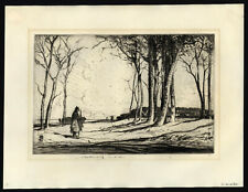 Hankey, William Lee (1869-1952) - Etching signed in Pencil With Blind Stamp