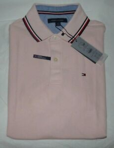 NWT Mens Tommy Hilfiger S/S Polo Shirt~Performance~Pink~MED