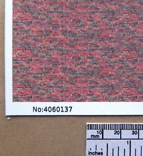 "OO/HO gauge (1:76 scale) ""Multi-colour brick with age"" self adhesive vinyl - A4"