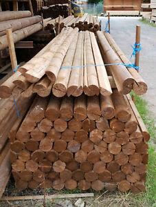 Zaunriegel,10 cm x 3 m,Lattenzaun,Holzzaun,Halbrundriegel,günstige Angebote