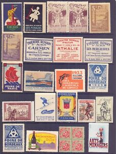 9-1.FRANCE,OLD POSTER STAMPS,LABELS,CINDERELLAS LOT,EXCIBITIONS,EVENTS,MNH.