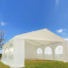 20'x16' PE Party Tent - Heavy Duty Carport Canopy Wedding Shelter - White