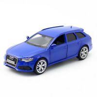 1:36 Audi RS 6 Avant Wagon Model Car Diecast Toy Vehicle Kids Pull Back Blue