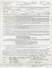 REGIS PHILBIN live concert appearance contract / 1969 Little Rock New Years Eve