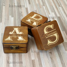 Personalised Brown Wooden  Wedding Jewelry Gift Box Custom Bridesmaid Box Gift