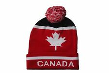 CANADA WITH WHITE MAPLE LEAF TOQUE HAT  .. VIVA..NEW