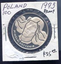POLAND - SPECTACULAR RARE MIKOLAJ KOPERNIK SILVER 100 ZLOTYCH, 1973
