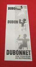 ADVERTISING PUB PUBLICITE ANCIENNE ADVERT 2.3 DUBO DUBON DUBONNET VIN TONIQUE 34