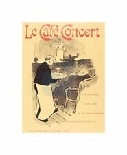 Henri Gabriel Ibels French Le Cafe Concert Illustrated Cover Art Canvas Print