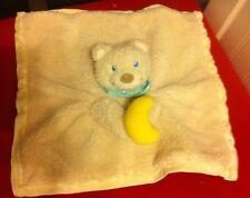 baby comforter bear holding half moon and bandana
