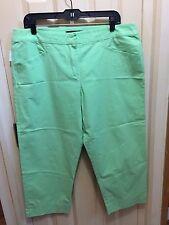 Lknu gree cropped capris pants Marina Rinaldi 25, XL, 16