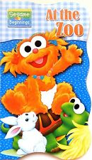 Sesame Street Beginnings BOARD BOOKS Baby Big Bird Cookie ELMO ~ At the Zoo