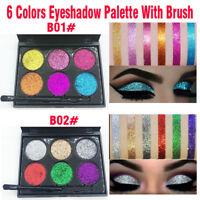 Shimmer Glitter Eye Shadow Powder Palette Matte Eyeshadow Cosmetic Makeup A