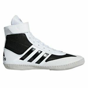 adidas Men's AC7501 Combat Speed 5 Black White Wrestling Shoes Sz 8 NWT