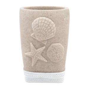 Coastal Shell Bath Accessory Collection Bathroom Tumbler