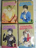 Absolute Boyfriend Volume 1 - 4 Manga Shojo Beat By Yu Watase Viz Media girls