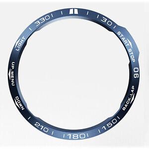 Blue Bezel + White Font Frame # for GarminFenix6X GPS Watch Bezel Ring Edge