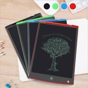 "8.5 12"" Electronic Digital LCD Writing Pad Tablet Kids Drawing Graphics Board UK"