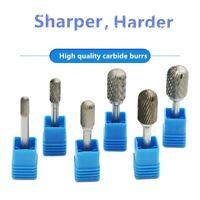 6mm Schaft Hartmetall Fräser Frässtifte Zylinder Stirnverzahnung 6 - 16mm neu
