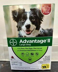 Advantage ll large Dog (Bayer) 6 months supply, 21-55 lbs & over 7 weeks NIB