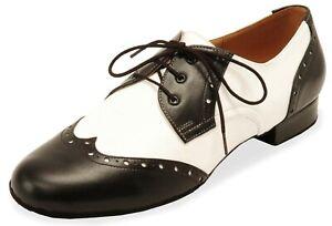 Tanzschuhe Herren schwarz-weiß Gr. 9 1/2 ECKSE Modell Luigi