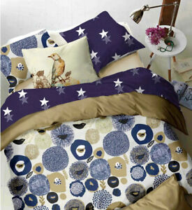 Quilt Duvet Doona Cover Set Queen/King Modern Pattern Printed Mr Cotton HBH