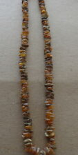 """raw Antique Natural  greenish&butterscotch  Baltic Amber Beads Necklace 18. """""""