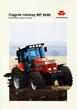 Massey Ferguson MF9240 11 / 1994 catalogue brochure tracteur Traktor