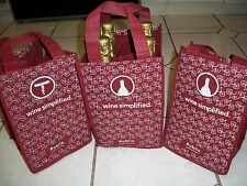 Wine Bags 4 Bottle Carriers Grocery 3 Totes Eco Friendly Sturdy Reusable PUBLIX