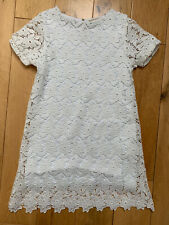 Zara Girls White Lace Dress Age 11-12