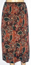 Amanda Smith Petite Size PL Paisley Skirt 100% Silk, Full Skirt, Multi-Color