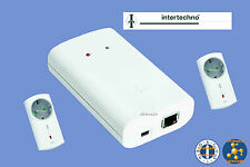 ITGW-433L Intertechno-Start-Set: LAN-Gateway 433 MHz+ 2x Funkstecker ITLR-3500
