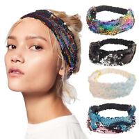 Fashion Women's Headband Sequin Elastic Glitter Hairband Hair Band Accessories