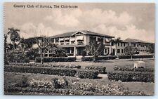 Postcard Cuba Country Club Of Havana The Club House Vtg B&W View J1