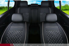 PU Leather 5 Seats Car Seat Cover Protector Front+Rear Mess Cushion All Seasons