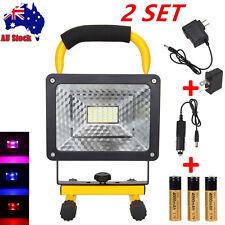 50W 36 LED Portable Cordless Work Light Flood Spot Waterproof Rechargeable 18650