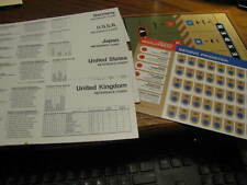 1984 Axis & Allies Spring 1942  Replacement Charts / Cards   Flat #S