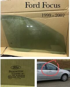 Ford Focus 1 Window Glass. Front. 2001 - 2004  Drivers Side