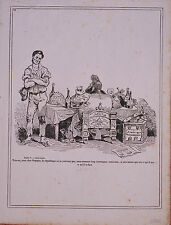 Gravure Originale Caricature Louis-Philippe