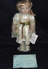 """Duck House Heirloom Ltd Ed 0312/5000 Porcelain Doll Faith Girl 15"""" Music NIB COA"""