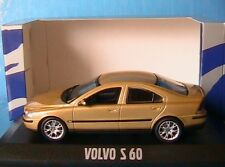 VOLVO S60 MAYA METAL MINICHAMPS 1/43 BERLINE 4 PORTES SEDAN OR METALLISE DE 2000