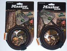 Master Lock Python Cable Pair Fit Bushnell Trophy Cams and Camlockbox Bear box