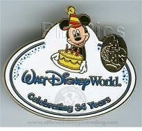 Disney Cast Exclusive Resort 34th Anniv Mickey Mouse Cast Name Pin