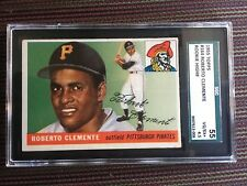 1955 TOPPS #164 ROBERTO CLEMENTE PITTSBURGH PIRATES ROOKIE CARD SGC 55 VGEX+ 4.5